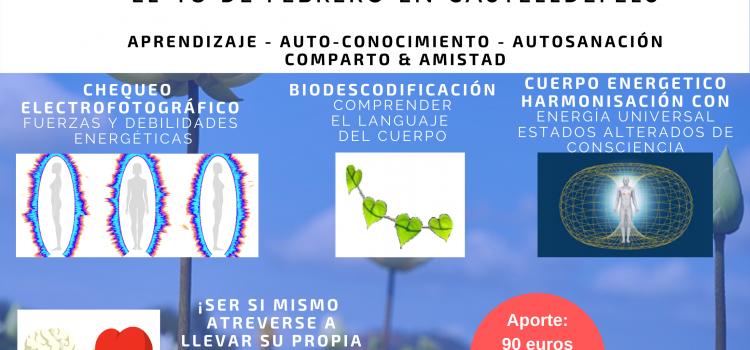 ¡Próximo workshop de AUTO-SANACION – sábado 15 de febrero en CASTELLDEFELS!